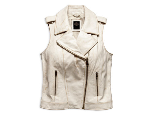 "Harley - Davidson - Damen -  Leather Vest "" Distressed"" - 96197-17VW"