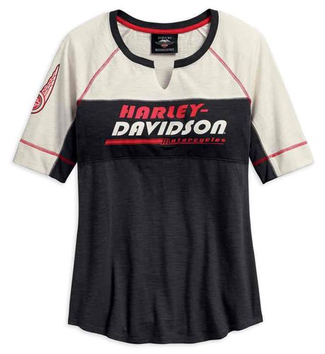 "Harley - Davidson - Damen - Shirt ""Notch Neck Colorblocked Top"" - 96204-18VW"