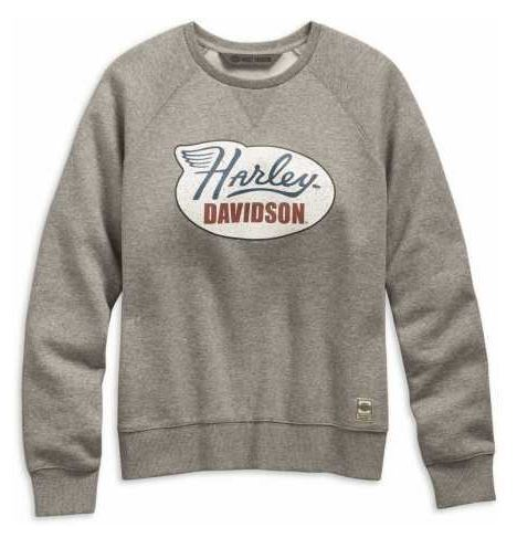 "Harley - Davidson - Women - Sweatshirt ""Distressed Print"" - 99113-19VW"