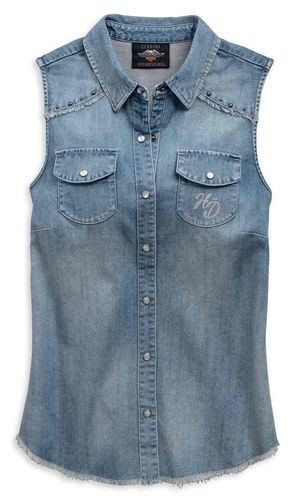 "Harley - Davidson - Damen - Bluse ""Flag Sleeveless "" - 96808-19VW"